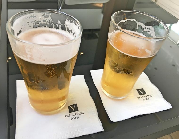 Welcome drinks at Hotel Valentina, St Julian's, Malta