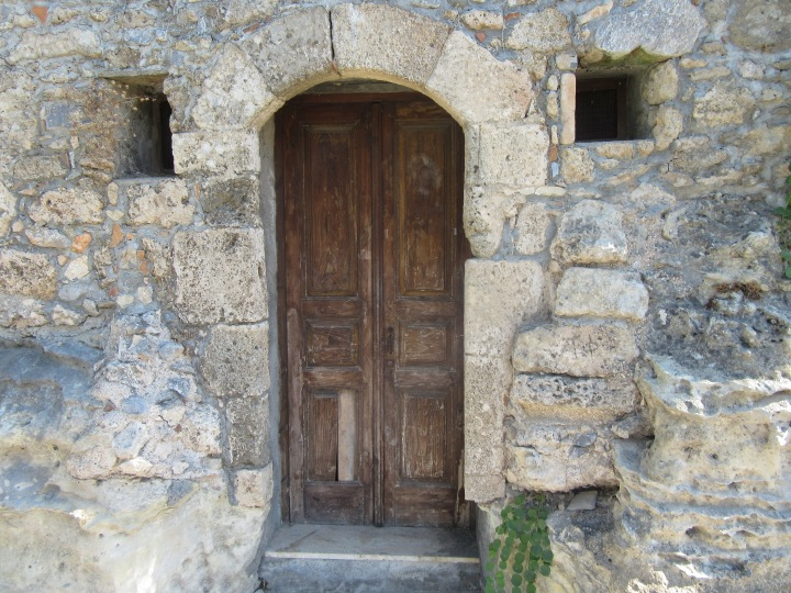 Lovely doorways in Lindos, Rhodes