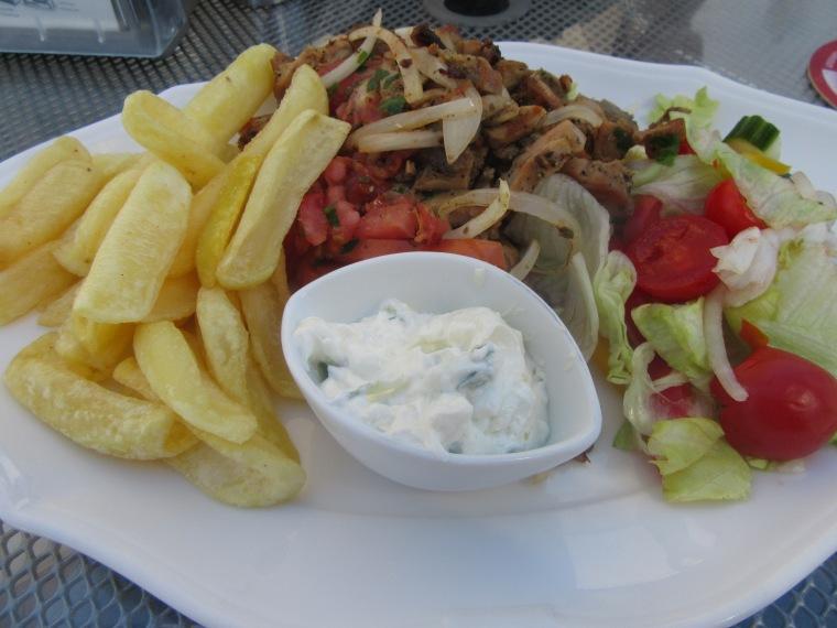 Gyros in Lindos, Rhodes