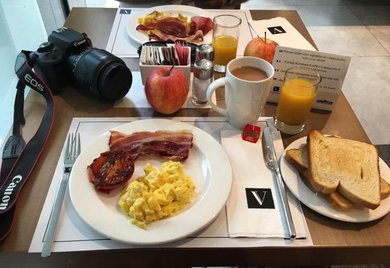 Breakfast at Hotel Valentina, St Julian's, Malta