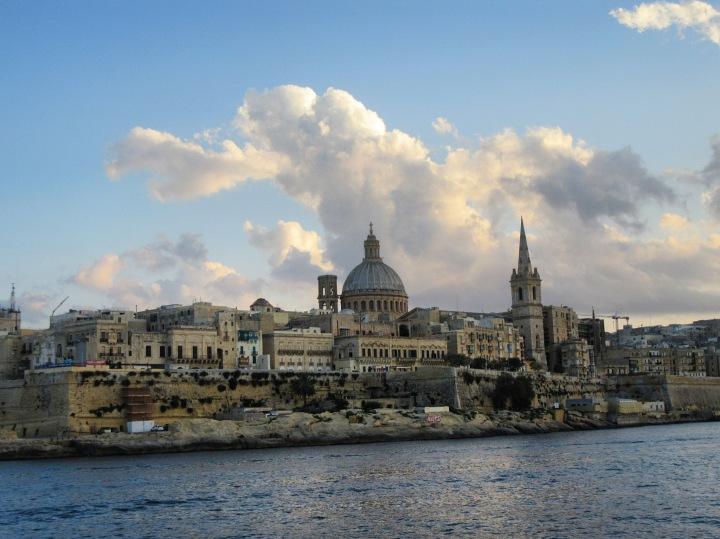 Valletta, Malta . Winter sun
