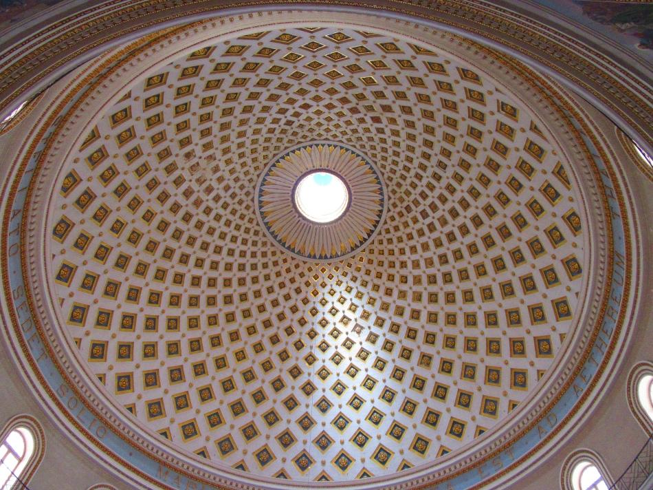 Dome at Mosta Church, Malta