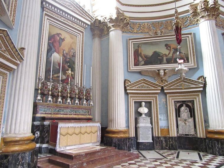 Inside Mosta Church, Malta