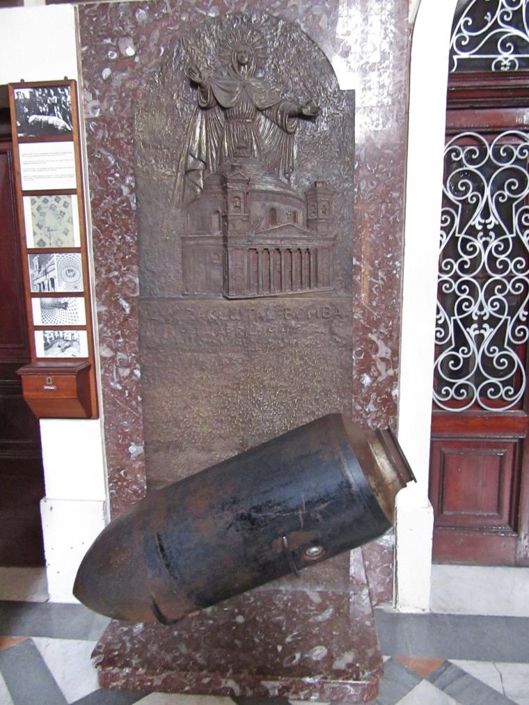 Bomb at Mosta Church, Malta