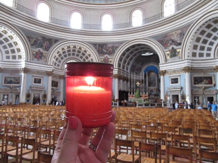 Candle in Mosta Church, Malta