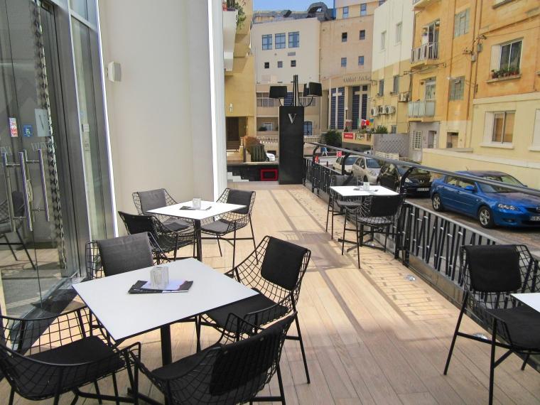 Outside bar area at Hotel Valentina, St Julian's, Malta