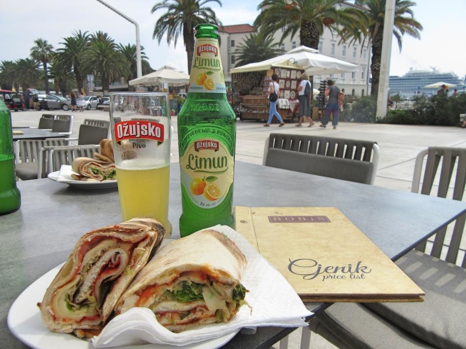 Lunch at Bobis, Split, Croatia