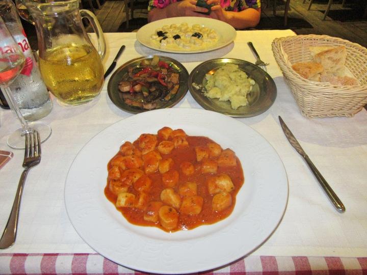 Meal at Tinel Trattoria, Split, Croatia