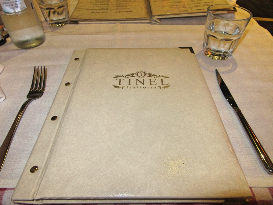 Menu at Tinel Trattoria Restaurant, Split