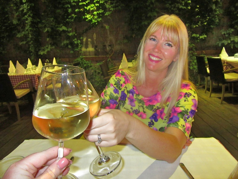My beautiful dining partner Samm at Tinel Trattoria, Split