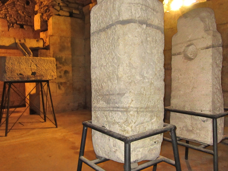 Old school Olive Oil press in the basement of Diocletian's Palace, Split, Croatia