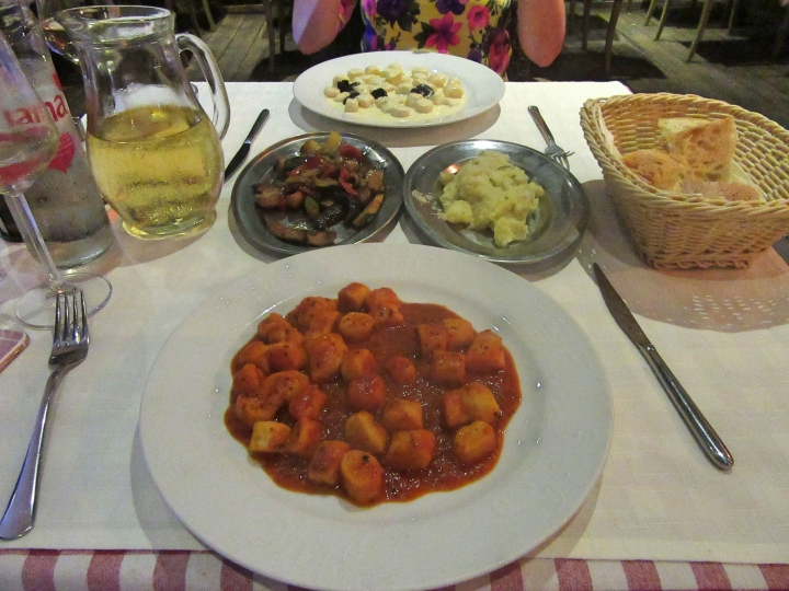 Our meal at Tinel Trattoria, Split