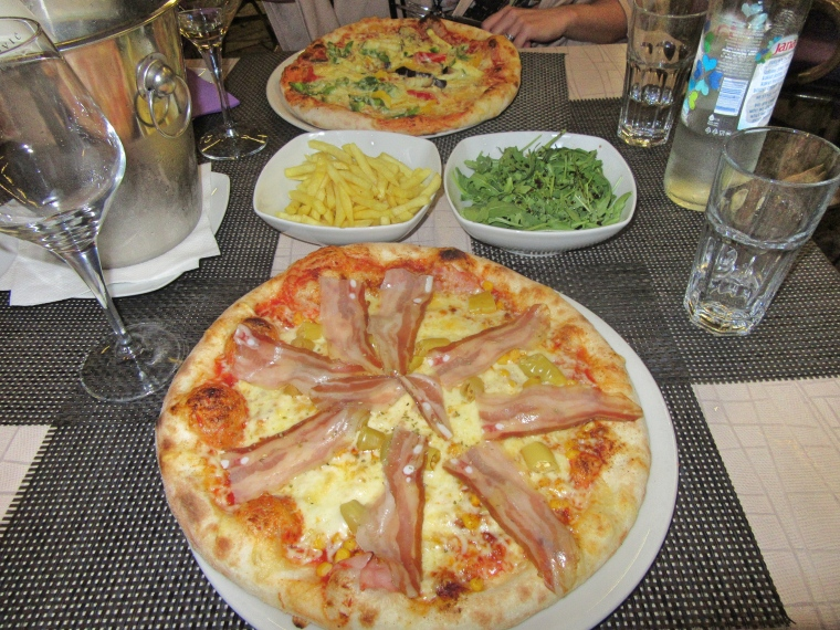 Pizza in Split, Croatia
