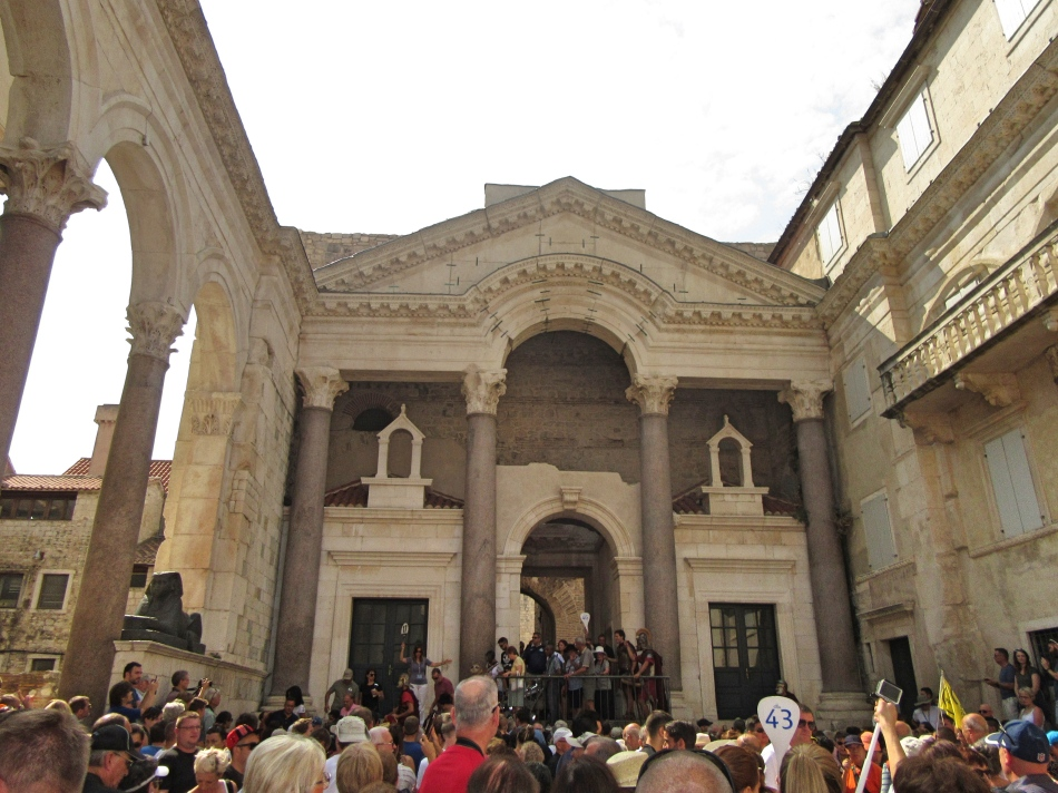 Start of the daily reenactment at Diocletian's Palace, Split