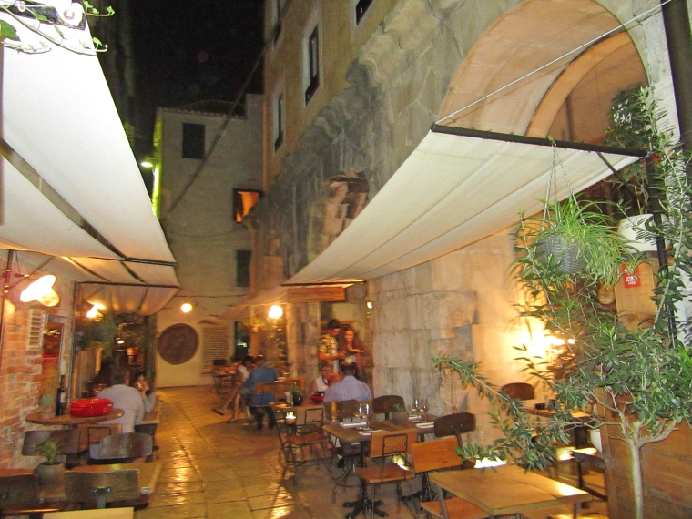 Terrace at Diocletian's Wine House, Split