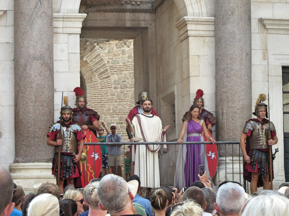 The Emperor's daily reenactment at Diocletian's Palace, Split, Croatia