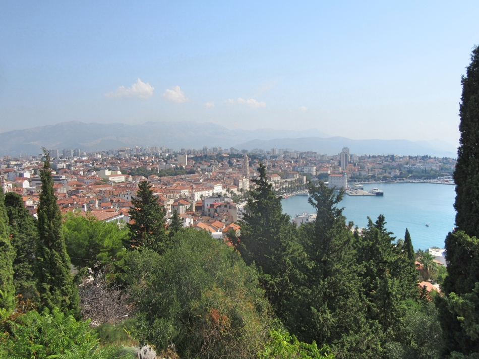 Views over Split from Marjan Viewing Point