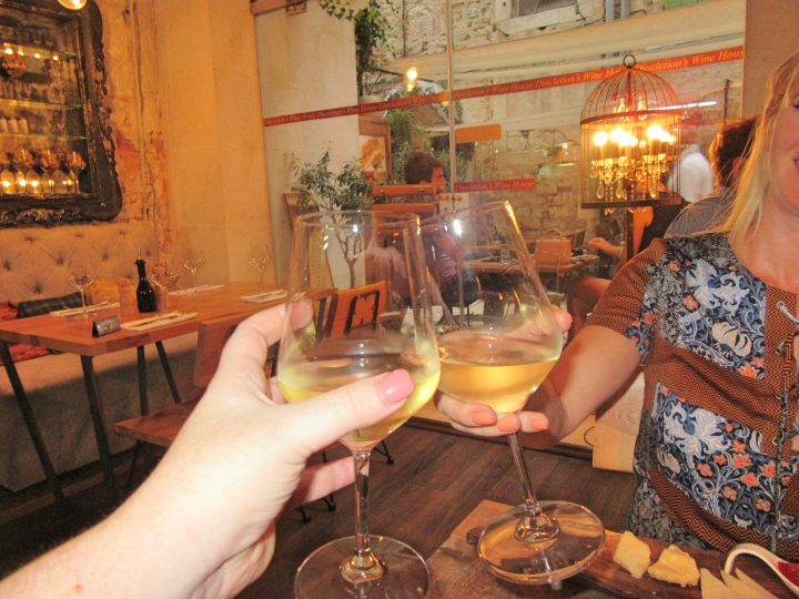 White wine at Diocletian's wine House, Split