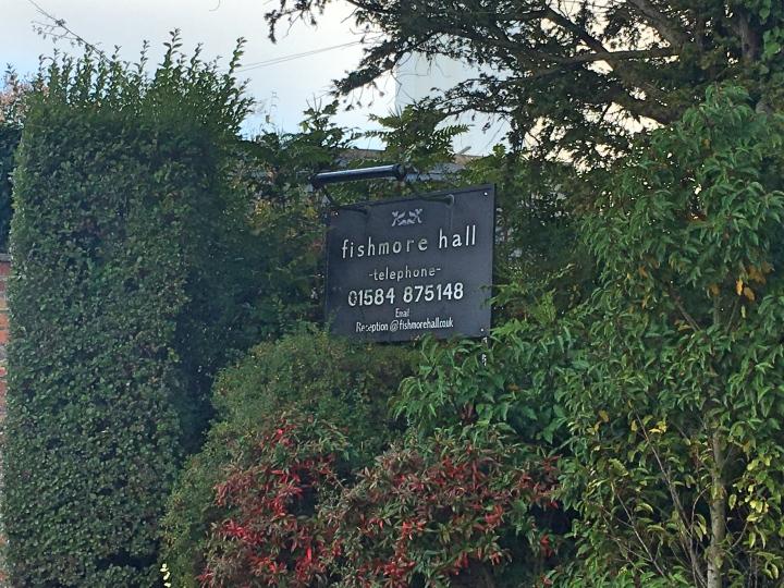 Fishmore Hall Hotel Sign