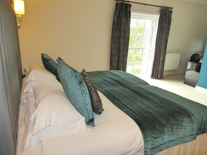 Bedroom at Fishmore Hall Hotel, Ludlow