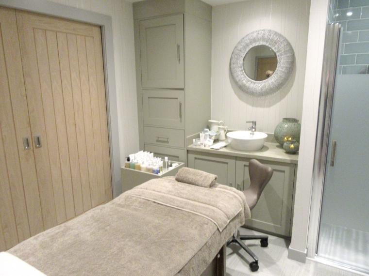 Treatment room at SPAshell at Fishmore Hall Hotel, Shropshire