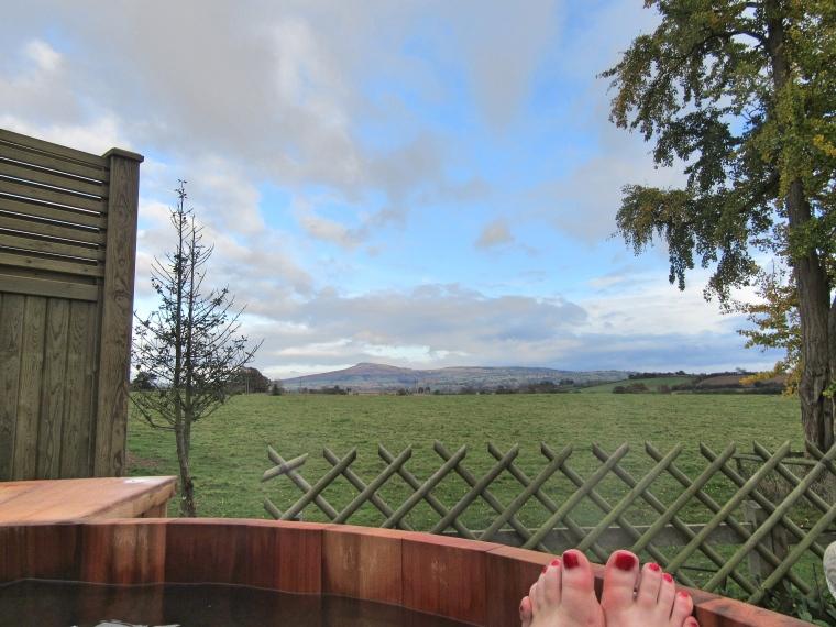 Views from the Hot Tub at SPAshell at Fishmore Hall Hotel, Shropshire