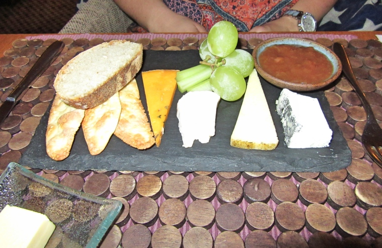 selection of cheeses, forge cottage apple and plum chutney, homemade biscuits, sour dough at Fishmore Hall Hotel, Ludlow