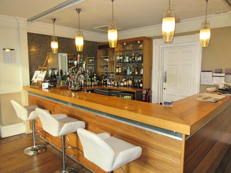 Bar area at Fishmore Hall Hotel, Shropshire
