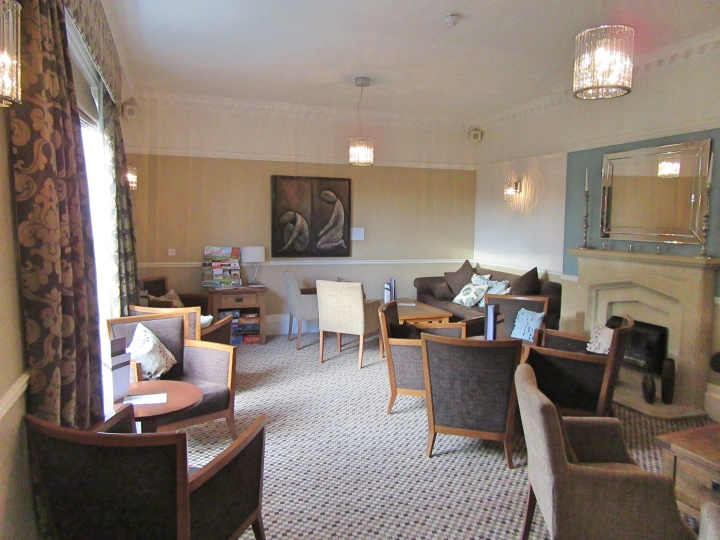 Lounge at Fishmore Hall Hotel, Shropshire