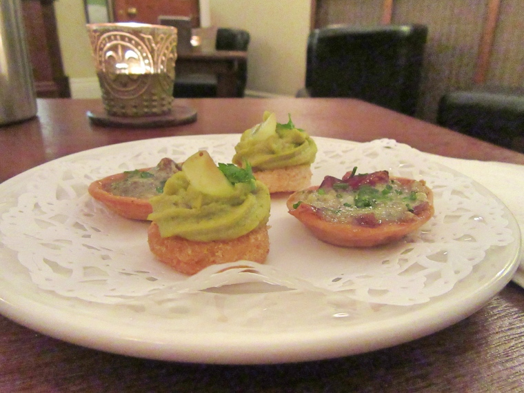 Canapes at The Highfield, Keswick in Cumbria