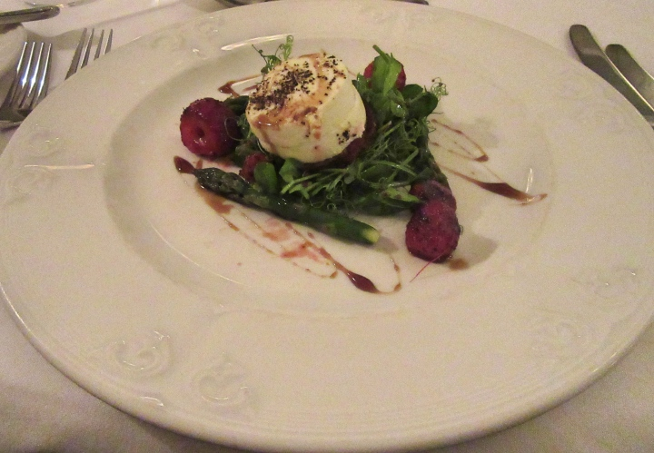 Goats Cheese Starter at The Highfield, Keswick in Cumbria