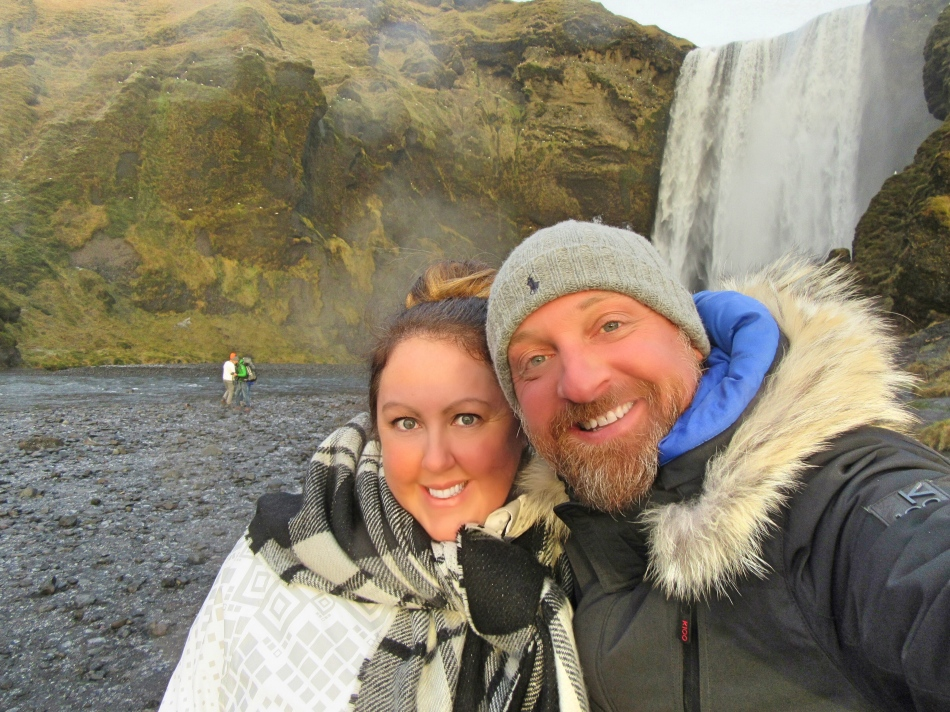 Mr ESLT and I at Skogafoss, Iceland