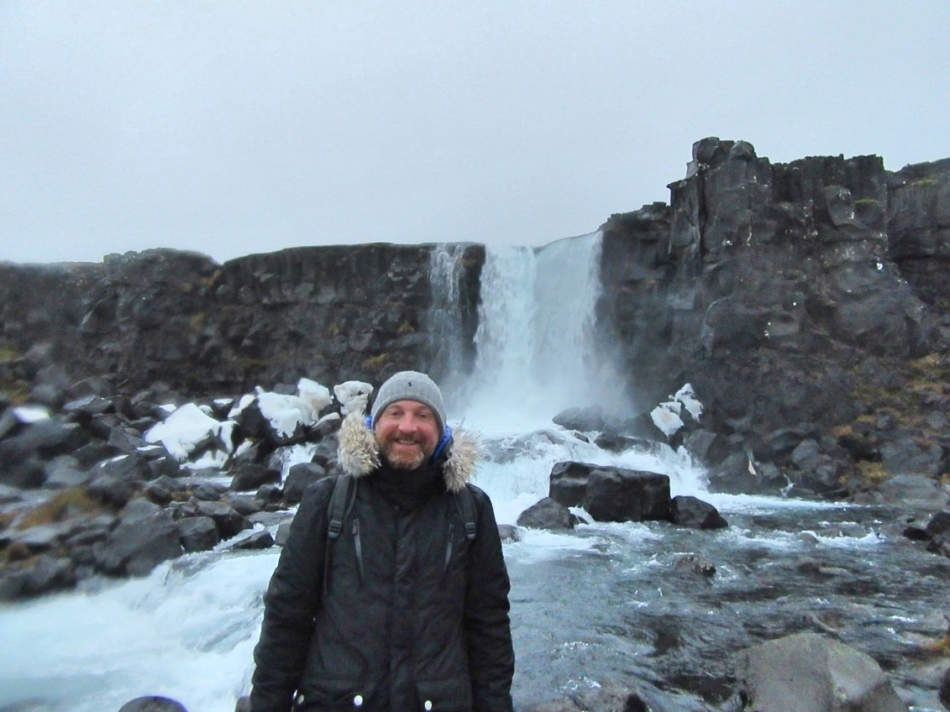 Mr ESLT at Öxarárfoss, Iceland