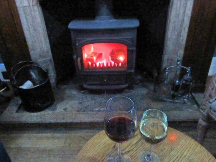 Pre dinner drink at Trigony House Hotel, Dumfries, Scotland