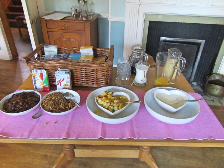 Breakfast at Trigony House Hotel, Dumfries, Scotland