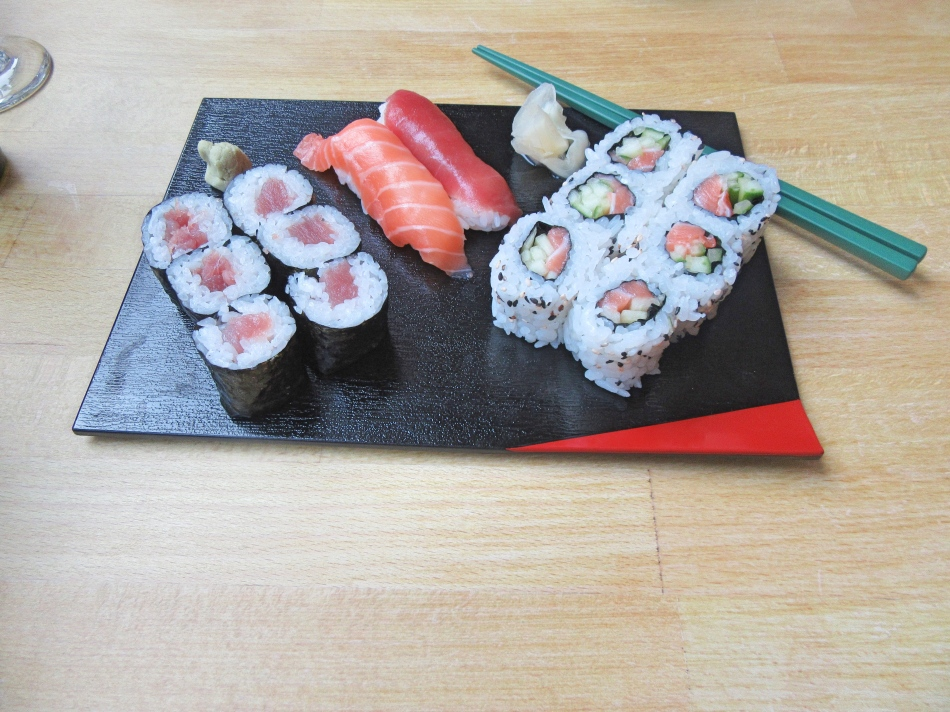 Sushi at Harajuku Kitchen Japanese Bistro Edinburgh Scotland