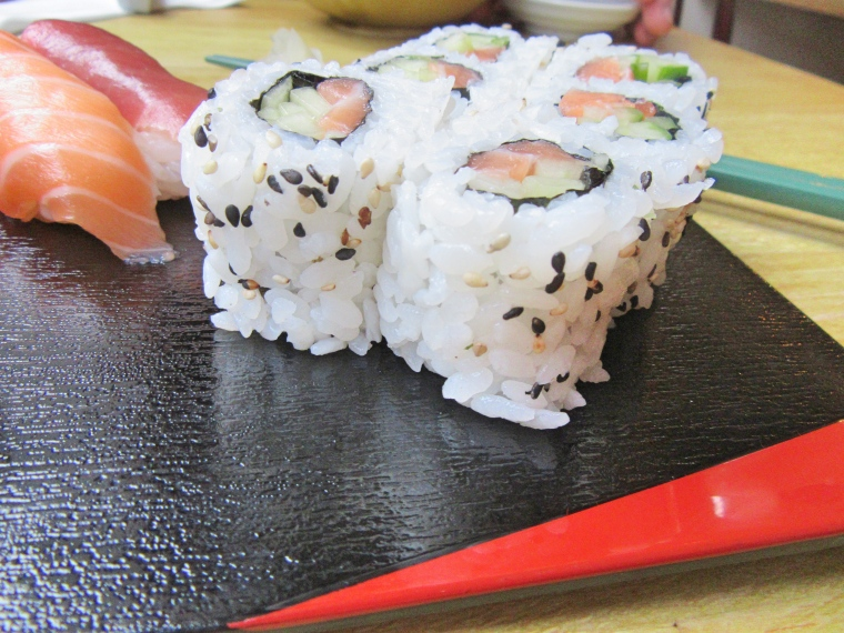 Sushi at Harajuku Kitchen Japanese Bistro Edinburgh Scotland