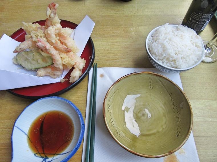 Tampura at Harajuku Kitchen Japanese Bistro Edinburgh Scotland
