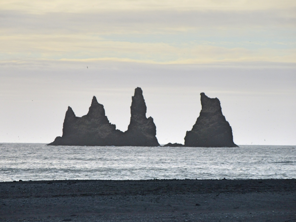 Rock formation Vik Iceland