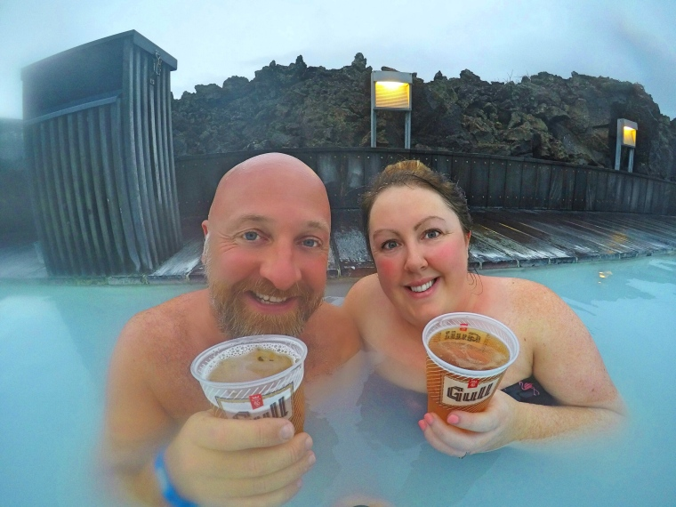 Drinks at The Blue Lagoon, Iceland