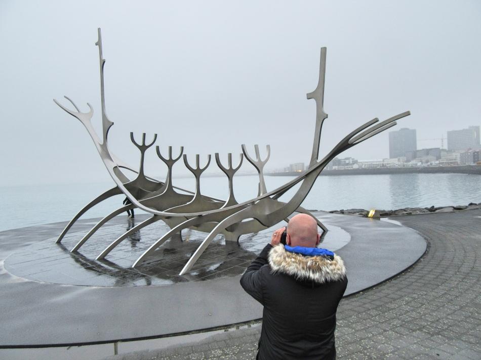 Mr ESLT at the Sun Voyager, Reykjavik, Iceland