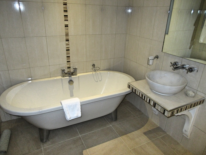 Bathroom at Sycamore Suite at The Angel Inn, Hetton, North Yorkshire, England