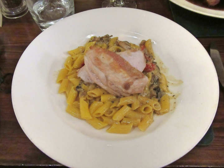 Chicken Brest and Pasta at The Angel Inn, Hetton, North Yorkshire, England