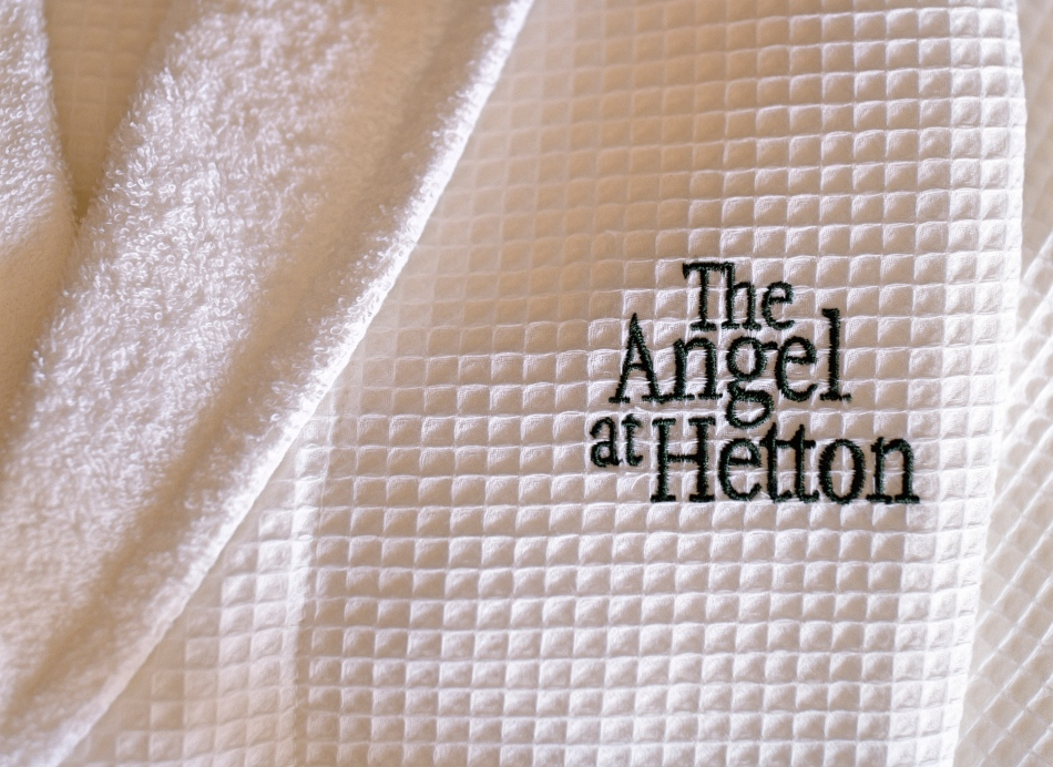 Bath robes at The Angel inn, Hetton, North Yorkshire, England