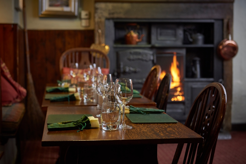 The Angel Inn Dining Room, Hetton, North Yorkshire, England