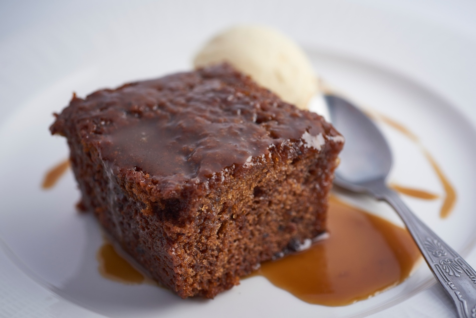 Sticky Toffee Pudding at The Angel, Hetton, North Yorkshire, England