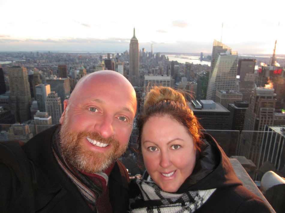 Mr ESLT and I at The Top of The Rock, New York, America