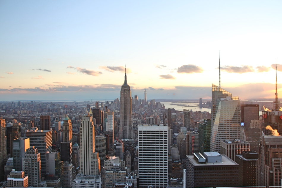 View from Top of The Rock, New York, America
