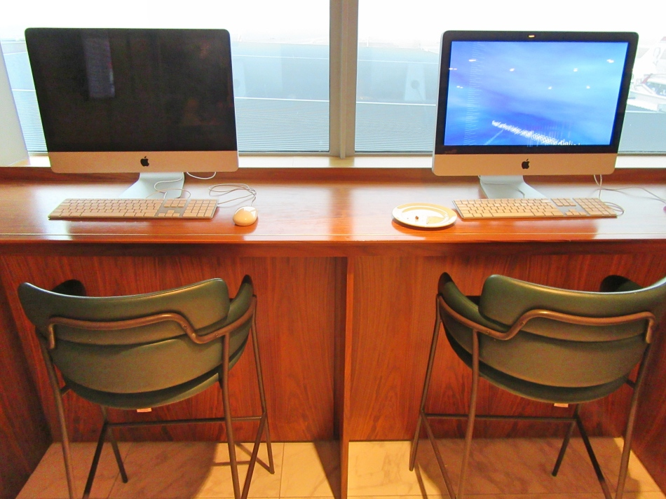 Guest Computers at No1 Airport Lounges at Gatwick Airport South Terminal
