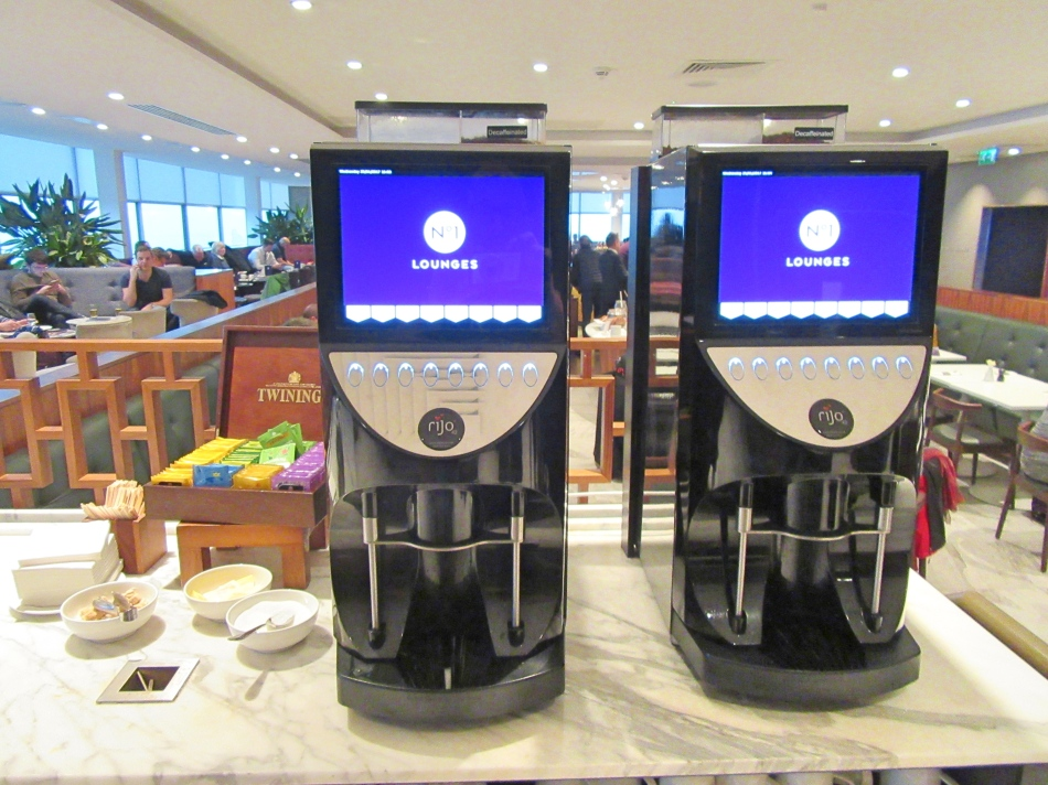 Tea/Coffee Machines in No1 Airport Lounges at Gatwick Airport South Terminal